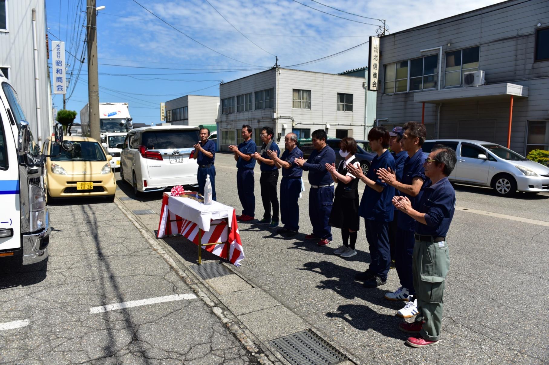 ☆☆ 富山で2トン車の納車式開催! ☆☆